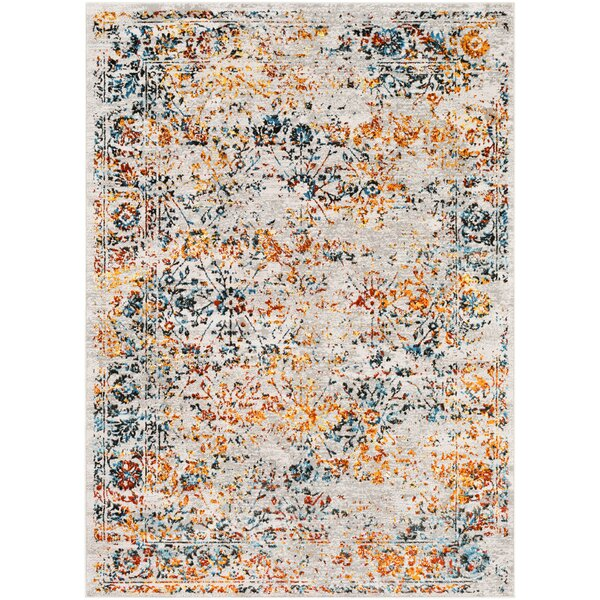 Parramore Oriental Saffron/Blue Area Rug by Bungalow Rose