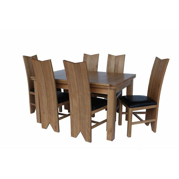 Baxley 7 Piece Solid Wood Dining Set by Foundry Select