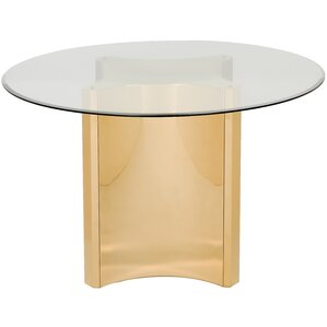 Reynaldo Glass Top Dining Table by Willa Arlo Interiors