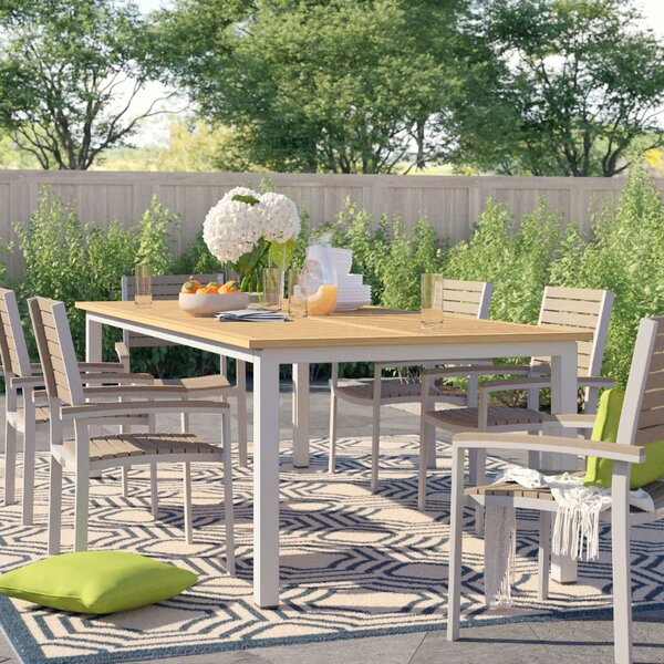 Caspian Plastic/Resin Dining Table by Sol 72 Outdoor