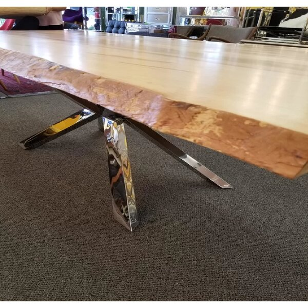 Carner Real Wood Edge Dining Table by Foundry Select Foundry Select