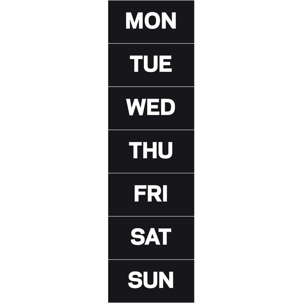 Days of The Week Magnetic Accessories by Mastervision