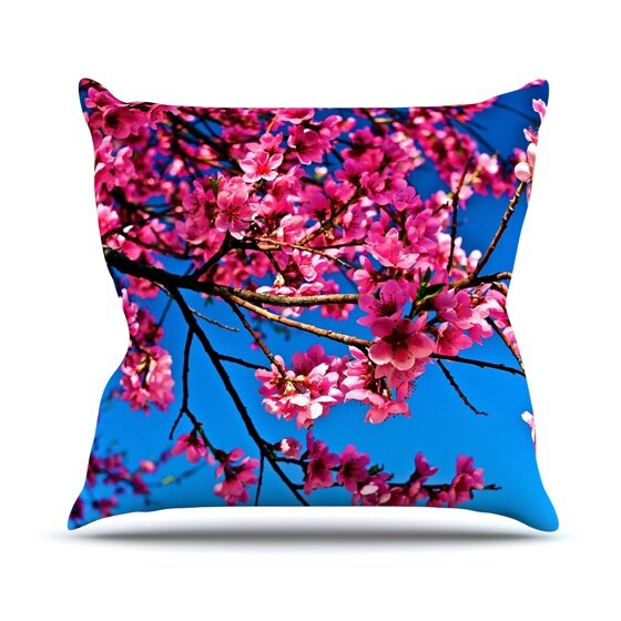 Flowers Outdoor Throw Pillow by East Urban Home