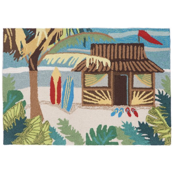 Cohee Tiki Hut Multi Indoor/Outdoor Area Rug by Highland Dunes