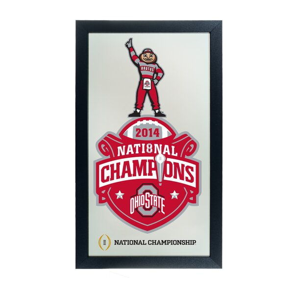 Ohio State University National Champions Accent Mirror by Trademark Global