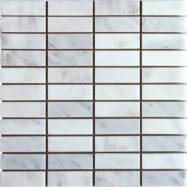 Arabescato Carrara 1'' x 3'' Marble Mosaic Tile by