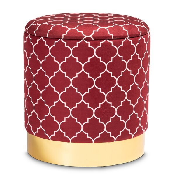 Halliday Sybil Upholstered Storage Ottoman by Everly Quinn Everly Quinn