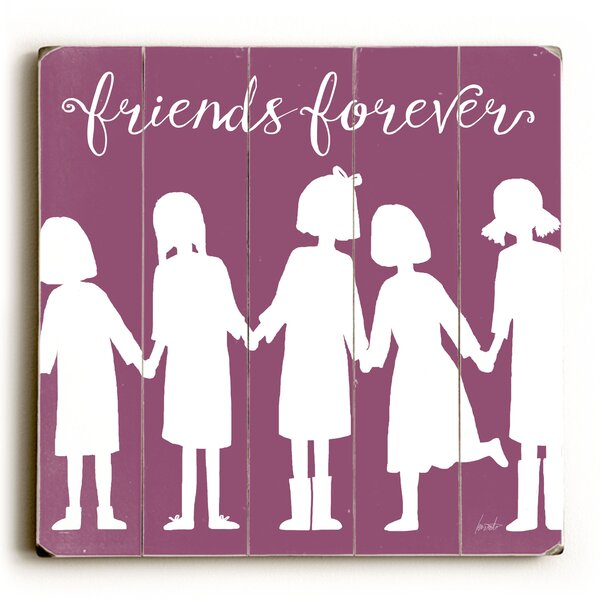 Zyron Friends Forever Wall Plaque by Harriet Bee