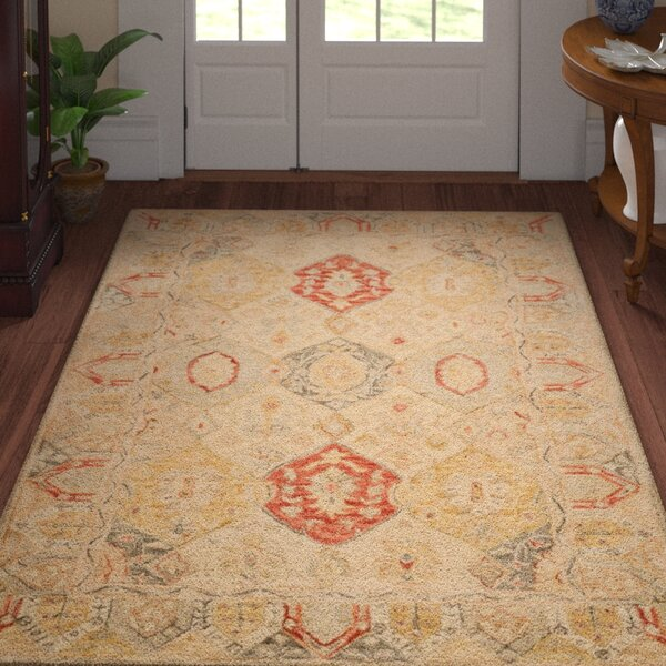 Ashville Hand-Tufted Oriental Area Rug by Three Posts