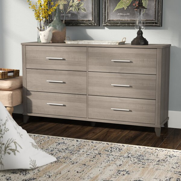 Valencia 6 Drawer Double Dresser by Laurel Foundry
