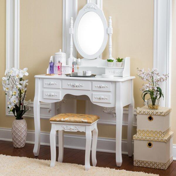 Northwoods Vanity Set with Mirror by House of Hampton