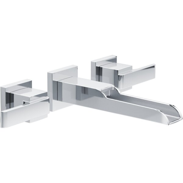 Ara Wall Mounted Bathroom Faucet with Drain Assembly by Delta