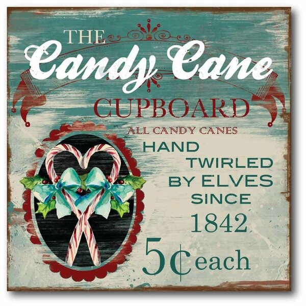 The Candy Cane Graphic Art on Wrapped Canvas by Co