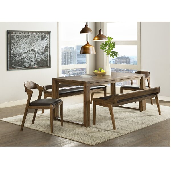 Bourgoin 5 Piece Drop Leaf Solid Wood Dining Set by Foundry Select
