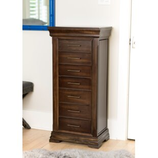 Galiena Free Standing Wood Jewelry Armoire with Mirror By Birch Lane™