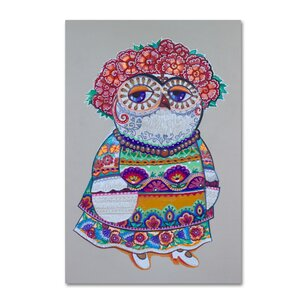 'Mexican Folk Owl' Graphic Art Print on Wrapped Canvas by Ebern Designs