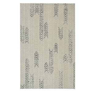 Braydon Arrow Waves Cream/Gray Area Rug