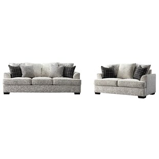 Lehane Luxury Contemporary Chenille 2 Piece Standard Living Room Set by Red Barrel Studio®