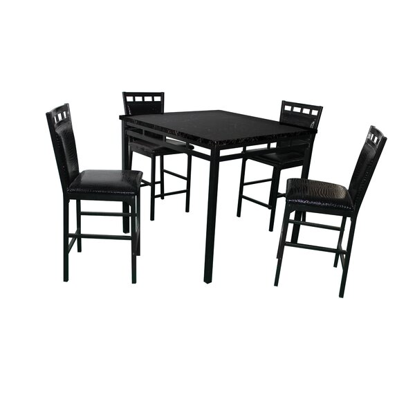 Eric 5 Piece Counter Height Dining Set by Latitude Run