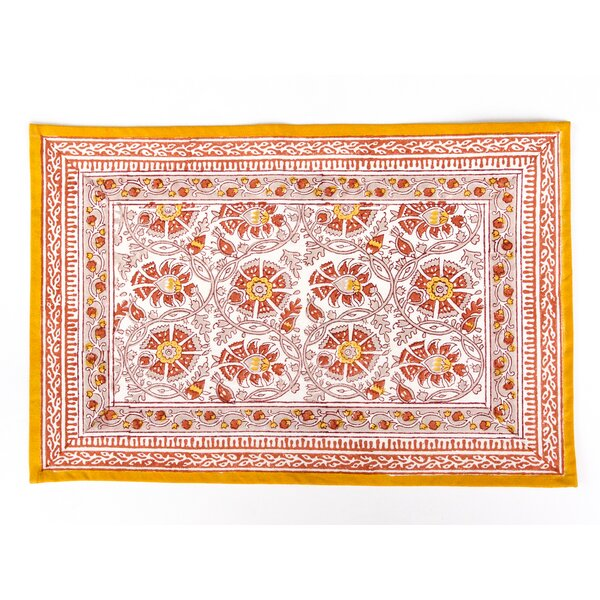 Gipson Floral Placemat (Set of 4) by Bungalow Rose