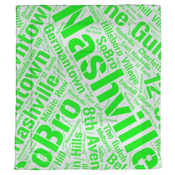 Nashville, Tennessee Single Reversible Comforter