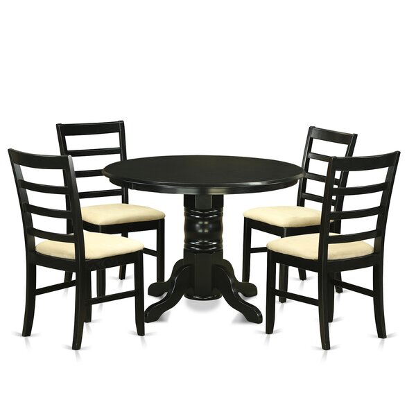 Langwater Traditional 5 Piece Wood Dining Set by Beachcrest Home
