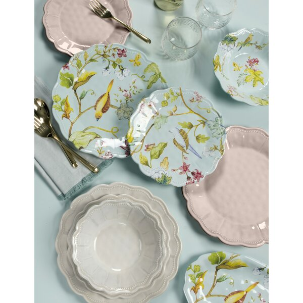 Lecroy Spring Chinoiserie 12 Piece Melamine Dinnerware Set, Service for 4 by Ophelia & Co.