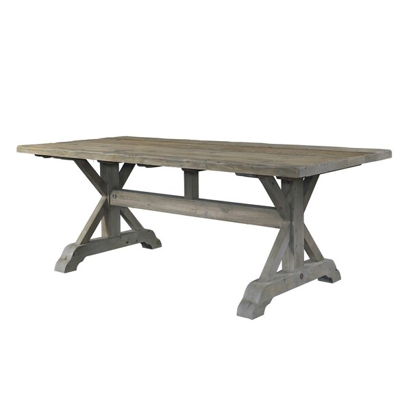 Salvaged Wood Solid Wood Dining Table by Padmas Plantation
