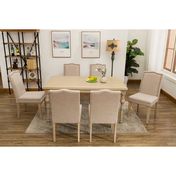 Edeline Country Styled 7 Piece Dining Set