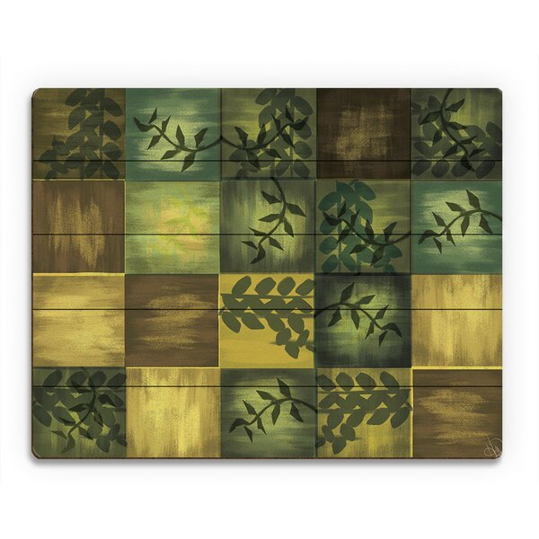Summer Tiled Vines Painting Print on Plaque by Click Wall Art