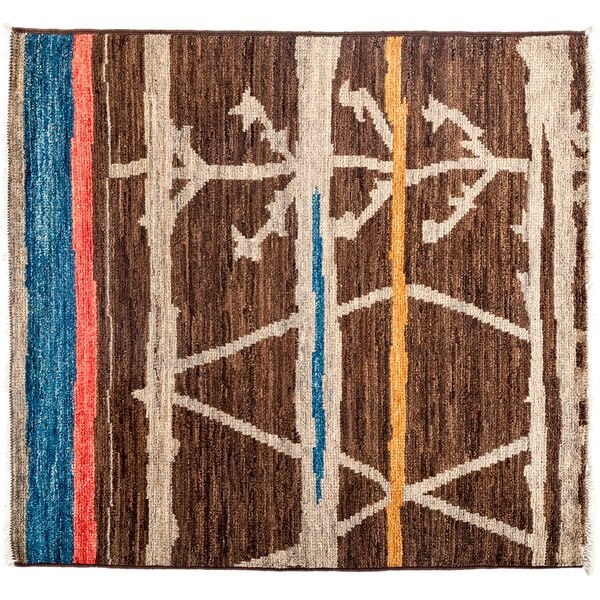 One-of-a-Kind Moroccan Hand-Knotted Brown Area Rug by Darya Rugs