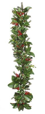 Holly Berry Boxwood Garland by Darby Home Co