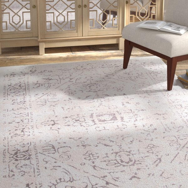 Cerda Ivory Area Rug by Bungalow Rose