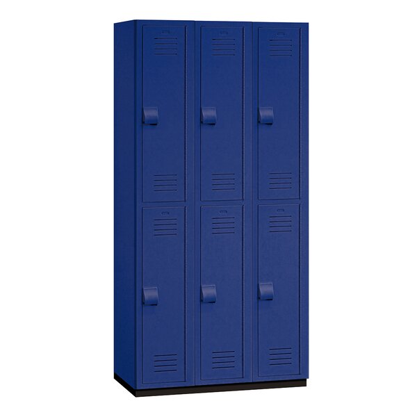 2 Tier 3 Wide Gym Locker by Salsbury Industries
