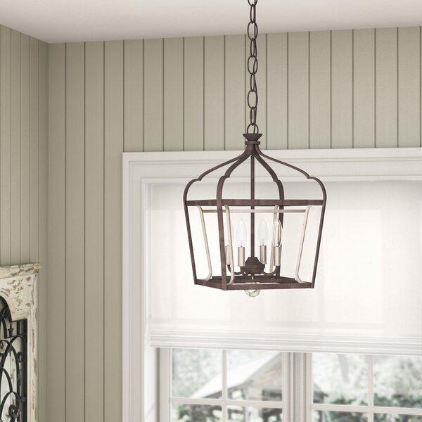 Evangeline 4 - Light Lantern Rectangle Chandelier by Laurel Foundry Modern Farmhouse Laurel Foundry Modern Farmhouse