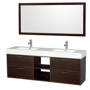 vanity double sink 72. Daniella 72  Double Espresso Bathroom Vanity Set with Mirror Modern Inch Vanities AllModern