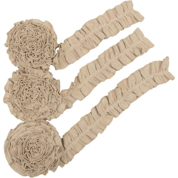 3 Piece Vintage Burlap Garland Set by The Holiday Aisle