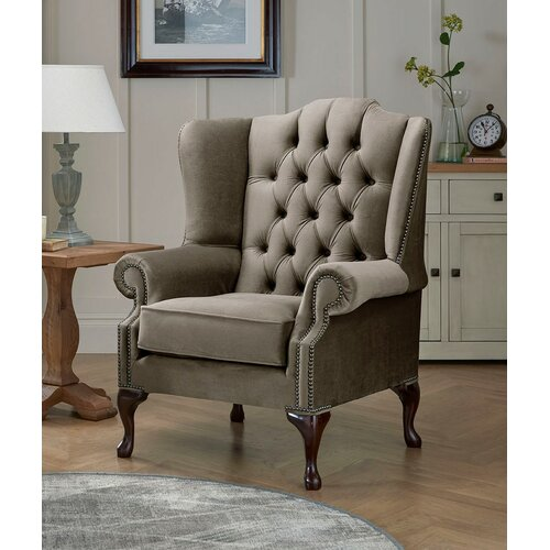 Tamesbury Wingback Chair Ophelia and Co. Upholstery Colour: