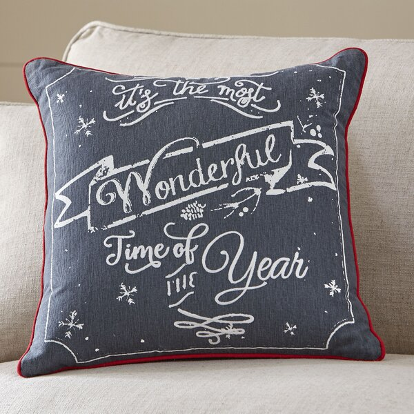 Wonderful Time Greetings Pillow Cover by Birch Lane™