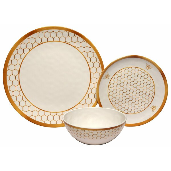 Rohan Honeycomb 36 Piece Dinnerware Set, Service for 12 (Set of 12) by Darby Home Co