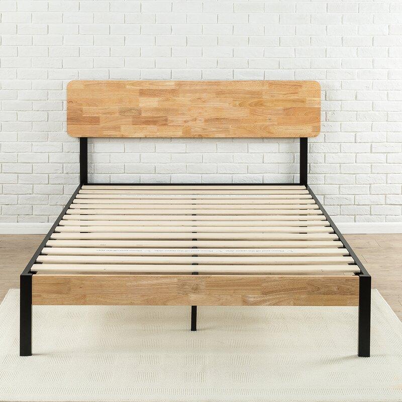 ursula metalwood platform bed - Wood And Metal Bed Frame