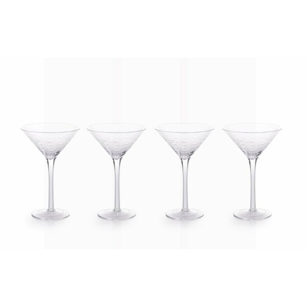Williamson Cocktail Glasses (Set of 4) by Rosecliff Heights