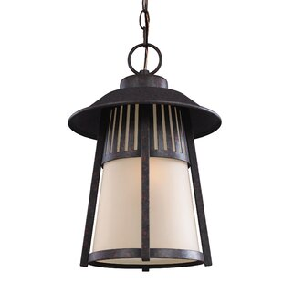 Find Burkettsville 1-Light Outdoor Pendant By Darby Home Co