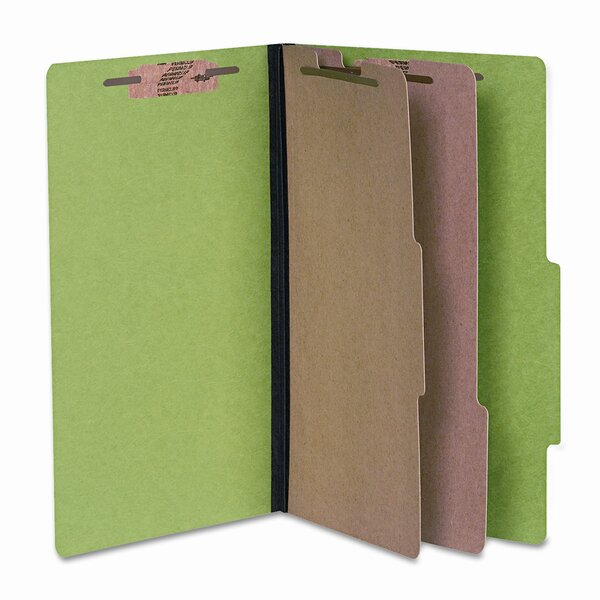 Presstex Colorlife Classification Folder, Legal, 6-Section, Dark Green by Acco Brands, Inc.