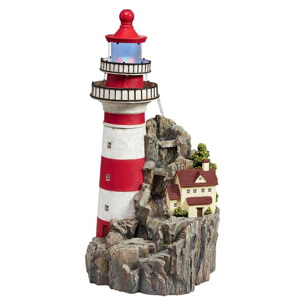 Resin Lighthouse by The Sea Fountain with LED Light by Wildon Home ®