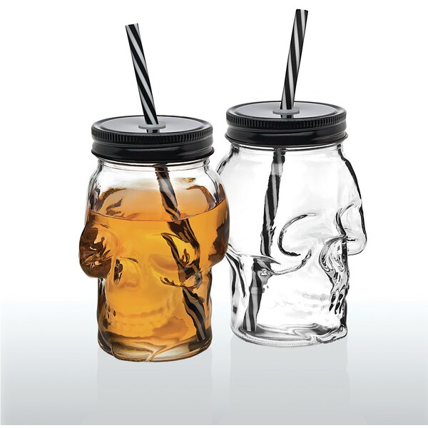 Skull Sippy Cups 16 Oz. Insulated Tumbler (Set of 2) by The Holiday Aisle