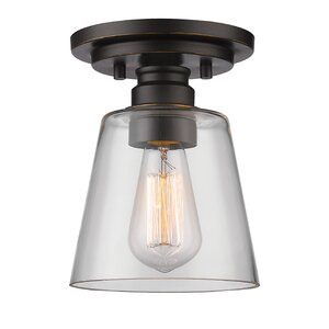 Clayton 1-Light Semi Flush Mount