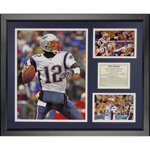 NFL New England Patriots - Tom Brady Away Framed Memorabili by Legends Never Die