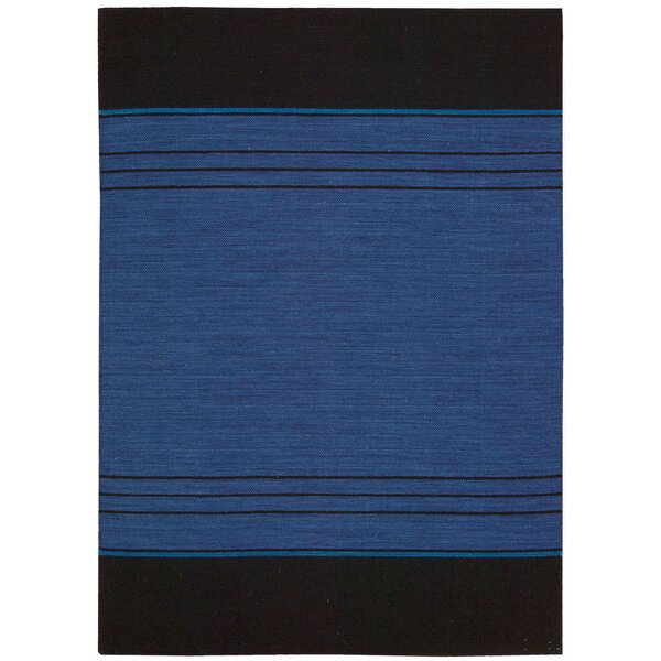 Plateau Woven Bands Sapphire Area Rug by Calvin Klein