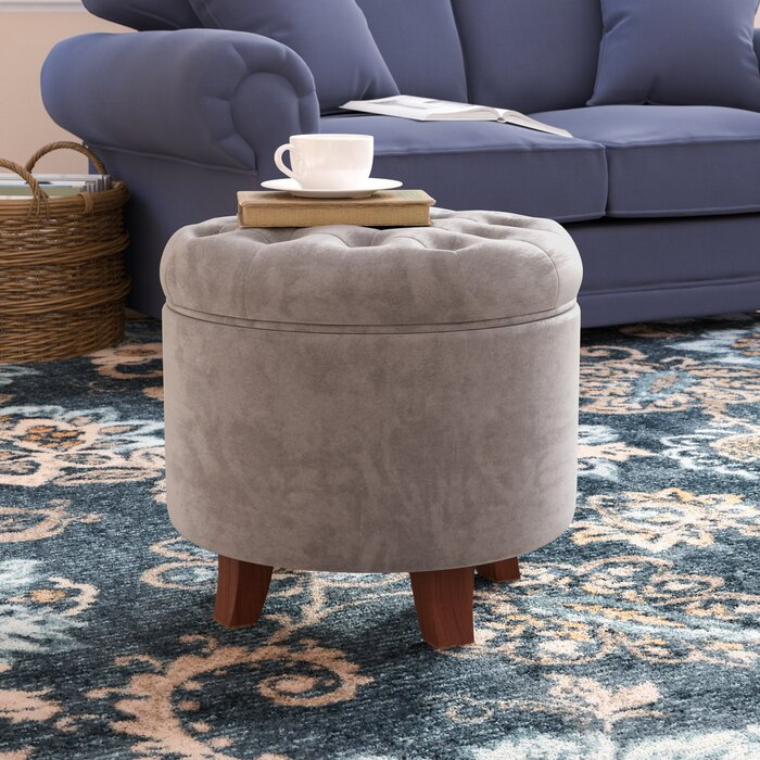 Astonishing Poteau Tufted Storage Ottoman Gmtry Best Dining Table And Chair Ideas Images Gmtryco